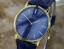 Omega DeVille Swiss Made Men's 1980s Luxury Manual Gold Plated Dress Watch W5