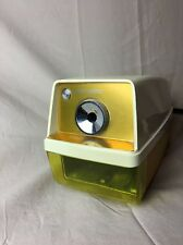 Panasonic Point-O-Matic Electric Pencil Sharpener-VTG Retro Gold/Yellow