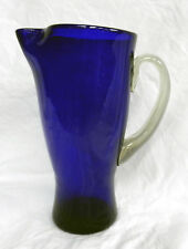 Stunning Antique Bristol Blue Glass Jug - Edwardian c 1900