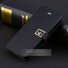 NEW Luxury Flip PU Leather Wallet Case Cover For apple iPhone 6 Plus 5