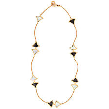 Bvlgari Divas Dream 18K Pink Gold Mother of Pearl Onyx Necklace 350075
