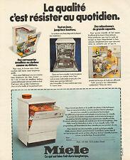 Publicité 1978  Lave vaisselle  MIELE  ...