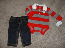 Carter's Baby Boys Baseball Outfit 2pc Set Size 6M 6 Months NWT NEW Clothes 3-6