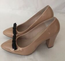 Clarks beige bow detail patent heels UK 4.5 brand new without the box