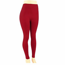 Womens Fleece Lined Leggings Warm Winter Thick Thermal Solid Regular & Plus Size