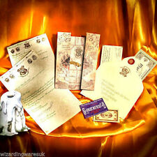 Harry Potter PERSONALISED Hogwarts Acceptance Letter, + Marauders Map