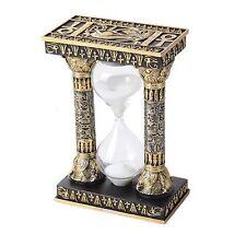 """Egyptian Eye of Horus Column Theme Sandtimer Sand Timer 5.75""""H Desk Statue Decor"""