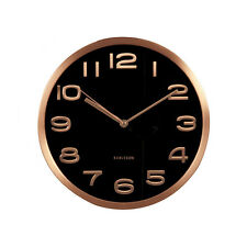 Karlsson Clock - Maxi Design, Black and copper Wall clock