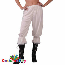 Womens Cream Victorian Steampunk Pantaloons Bloomers Fancy Dress Accessory
