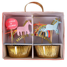 Unicorn Cupcake Toppers & Cake Cases Luxury Party Decorations Meri Meri 24