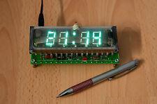 VFD Desk Clock IVL-1-7/5 Russian 4 Digit Display Tube Chip KR145IK1911 Nixie Era