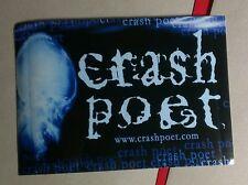 CRASH POET .COM BLUEAmp Guitar Case Rare Promo STICKER