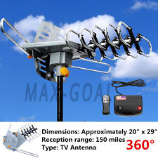 150 Mile HDTV 1080p Outdoor Amplified HD TV Antenna Digital UHF/VHF FM Radio VIP