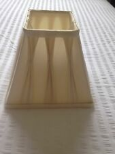 Laura Ashley Square Cream Silk Pinched Pleatd Lampshade.