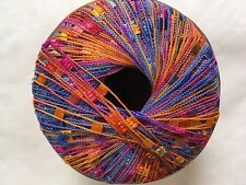 Plymouth Eros Ladder Yarn #2027 Blue Pink Orange Green - Blue Label 50gr Ribbon