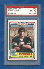 1984 Topps USFL Football Steve Young XRC rookie card #52 graded PSA 8 NMMT