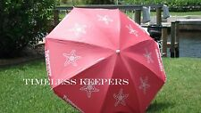 FREE SHIP Tupperware BEACH UMBRELLA logo starfish Seashore Collection Tilt NEW