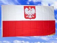 Fahne Flaggen POLEN MIT WAPPEN 150x90cm TDShop24