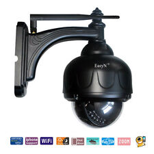 Wireless WIFI Outdoor Waterproof Security IP Camera System Pan/Tilt Audio DDNS