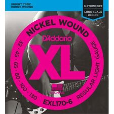 D'Addario EXL170-6 Nickel Wound 6-String Long Scale Light Bass Strings (32-130)