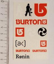 *** Burton - Snowboard Sticker Set - Stickerbogen - 13 Stück - klein - rot***
