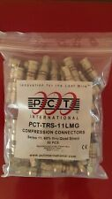 LOT OF 50pcs  PCT-TRS-11LMG COAXIAL RG11 COMPRESSION CONNECTORS FITTINGS