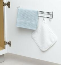 ClosetMaid 3064 6 Hook Towel Rack, Chrome , New, Free Shipping