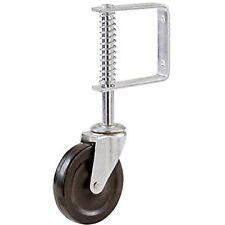 "Caster Spring Loaded Gate Wheel Ladder Cap Heavy Duty Capacity Shepherd 4"" Gray"