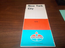 1974 American Oil New York City Vintage Road Map