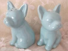 Blue Chic French Bulldog Salt Pepper Shakers Turquoise Frenchie Dog Lovers Love