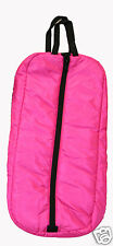 Premium Horse Bridle Halter Padded Bag Case Carrier Three Inner Loops Hot Pink