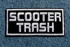 SCOOTER TRASH Biker Motorcycle Patch by Dixiefarmer