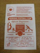 12/11/1966 Uxbridge Middlesex Senior Cup V Enfield [] (cambios de equipo limpio). este