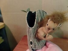 """Folkmanis Finger Puppet Squirrel in Tree-5"""" Tall M #1843"""