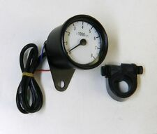 BLACK & WHITE FACE MINI TACH TACHOMETER FOR HARLEY HONDA YAMAHA SUZUKI KAWASAKI