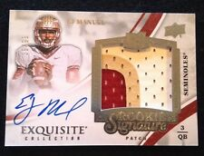 2013 UD Exquisite EJ Manuel Rookie Signature Autograph 3 Color Patch #/99 Bills