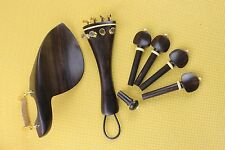New top undyed ebony Luthier violin parts 4/4 full size Violin Accessories