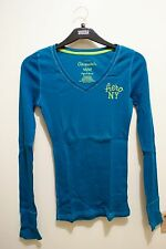 Aeropostale blue long sleeves blouse (Free size/M)