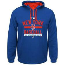 NEW YORK METS MAJESTIC AUTHENTIC TEAM PROPERTY THERMABASE HOODIE BIG & TALL 4XLT