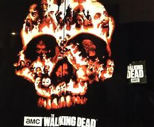 The Walking Dead Comics Med Hoodie ZOMBIE Daryl Dixon Sweatshirt Flaming Skull