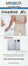 Prospekt Minolta Dimage Xi 8/02 2002 Folder Digitalkamera Kamera Broschüre