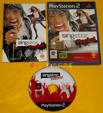 SINGSTAR ROCKS  Ps2 Versione Ufficiale Italiana Sing Star Rock »»»»» DVD MINT