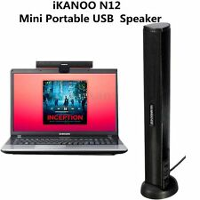 iKANOO N12 USB Audio Sound Bar Speaker for Computer Desktop PC Laptop Black New