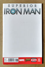 SUPERIOR IRON MAN #1 FIRST PRINT BLANK VARIANT MARVEL COMICS (2015)