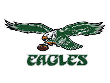 "NFL PHILADELPHIA EAGLES VINTAGE DECAL / STICKER - XL !!   8"" ! ( no tickets )"