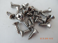 """STAINLESS STEEL OVAL HEAD PHILLIPS TAPPING SCREW. 14 x 3/4"""" 25 PCS. NEW"""