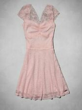 NWT New Abercrombie & Fitch Gillian Lace Skater Dress in Pink size Large L