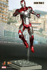 Hot Toys MMS 145 Iron Man 2 Mark V 5 Tony Stark 12 inch Action Figure NEW