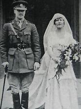 Captain William Rollo & Lady Kathleen Hill Wedding & Guests 1917 Photo Article