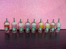 Littlest Pet Shop LPS Accessories 9PC Starbucks Coffee Cups Food  + Gift Bag